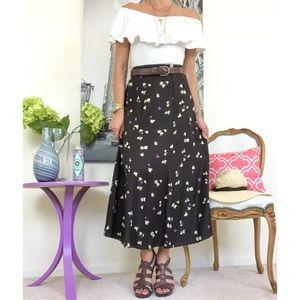 Sigrid Olsen Casual Floral Maxi Skirt